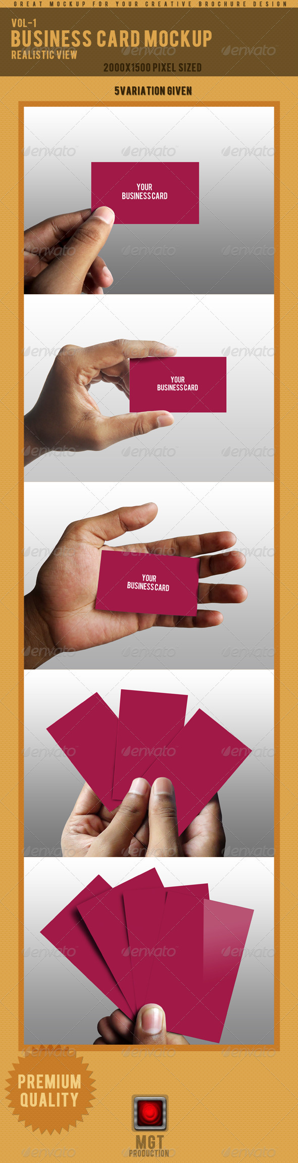 Photo Real Business Card Mockup - 1
