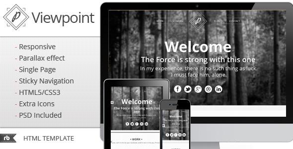 Viewpoint - Responsive portfolio with parallax