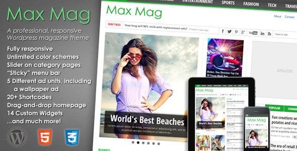 Max Mag - Responsive WordPress Magazine Theme - ThemeForest Item for Sale