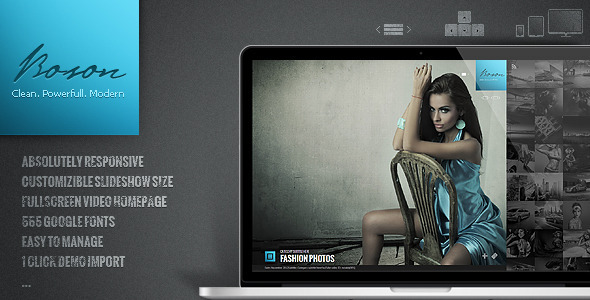 Boson - creative photo and video WP theme - ThemeForest Item for Sale