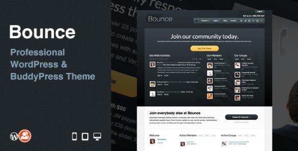 Bounce: Professional WordPress & BuddyPress Theme