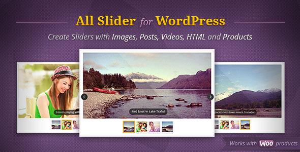 AllSlider - WordPress Responsive Slider Carousel - CodeCanyon Item for Sale
