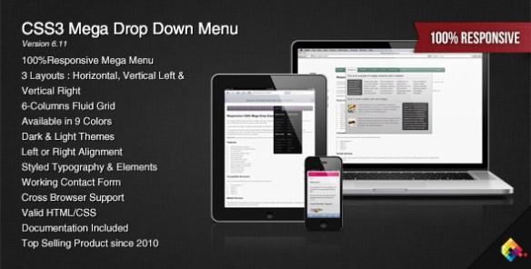 CSS3 Mega Drop Down Menu