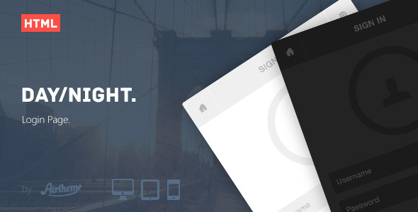 Day/Night Login Page