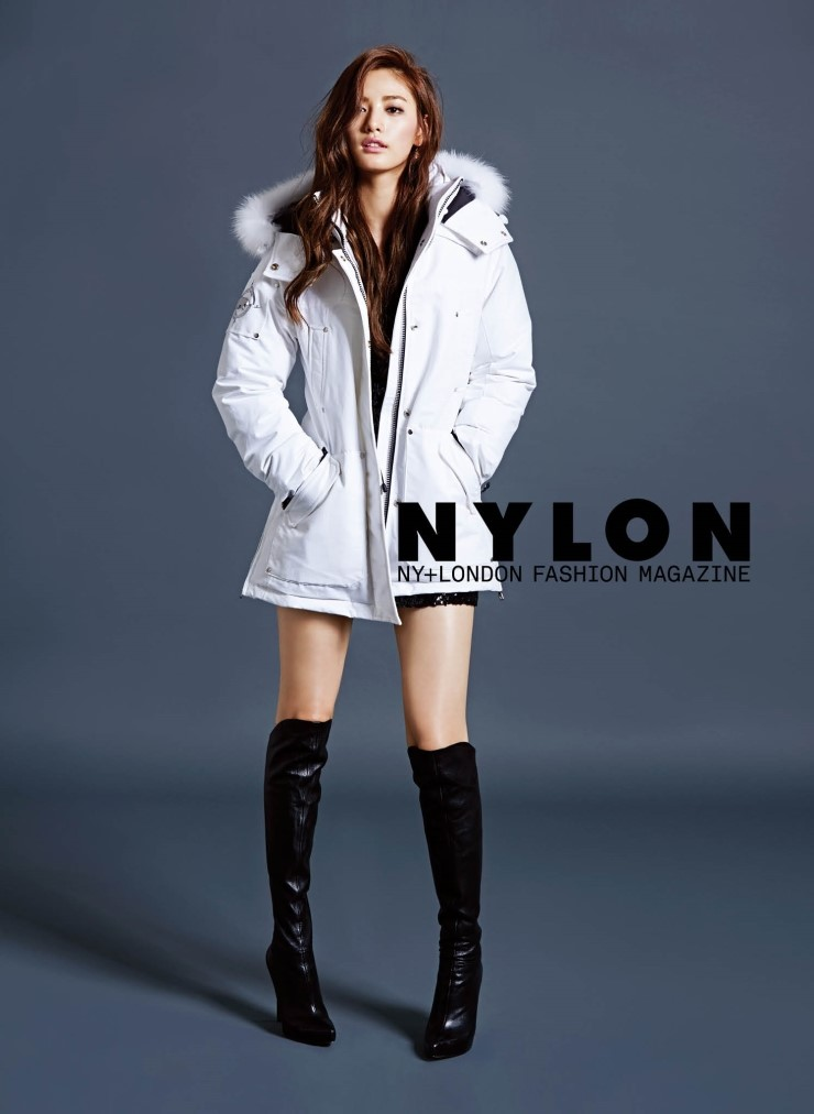 After Schools Nana And Model Actor Lee Soo Hyuk Pose In A