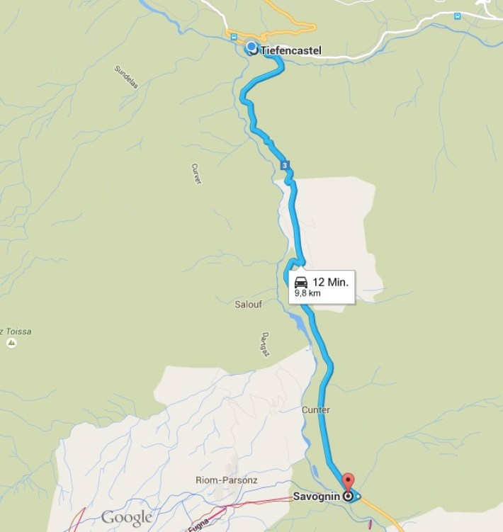 Savognin-Map