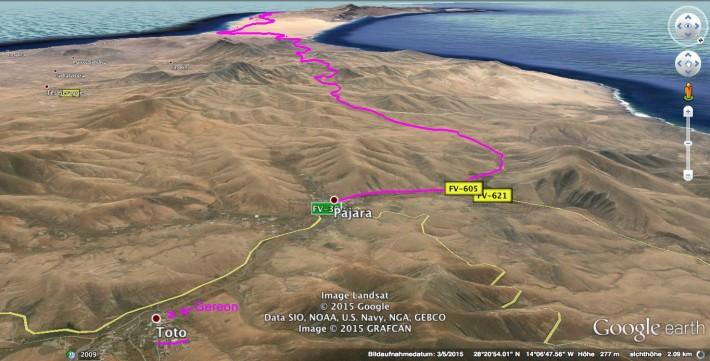 Morro-Jable-to-Pajara-Map-02
