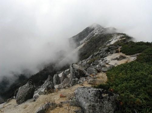 日本百名山「鳳凰山(鳳凰三山)」(中道経由ドンドコ沢周回)