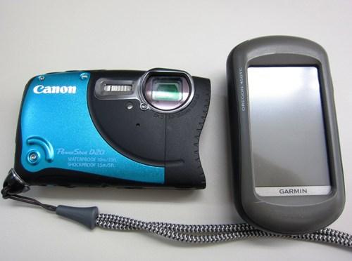 キャノン「PowerShot D20」について(GPS測位精度確認実験)