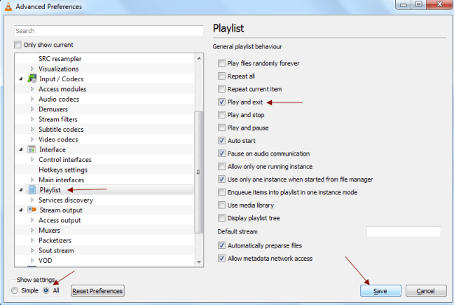 Shutdown PC Automatically after Media or Playlist Ends in VLC