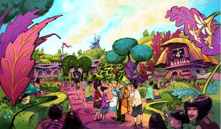 Tokyo Disney Resort Updates- Alice In Wonderland area at Tokyo Disneyland https://1000000peoplewholovedisney.wordpress.com/2015/05/05/tokyo-disney-resort-updates/