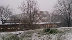 Aula Medica in snowy days