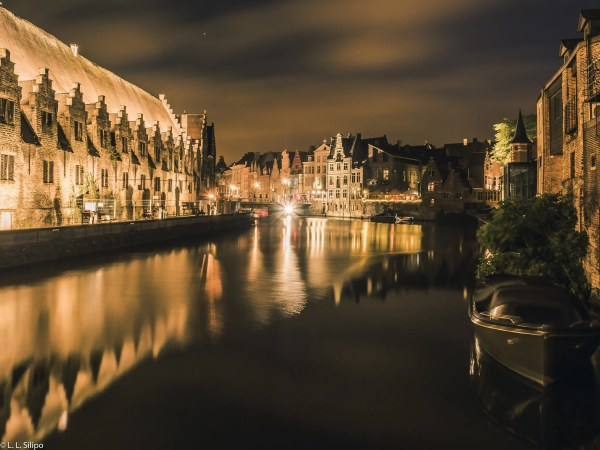 architecture, belgium, bridge, building, canal, city, cityscape, europe, european, evening, famous, gent, ghent, history, house, landmark, landscape, medieval, night, old, outdoors, reflection, river, sky, tourism, tourist, town, travel, urban, water