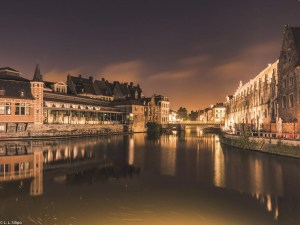 architecture, belgium, bridge, building, canal, capital, city, cityscape, europe, european, evening, gent, ghent, historic, house, landmark, light, medieval, night, old, outdoors, reflection, river, sky, street, tourism, tourist, town, travel, urban, water