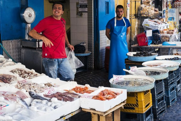 Napoli, city, color, culture, day, fish, food, fresh, italy, life, man, market, mercato, naples, old, people, seafood, south, street, sweet, traditional, travel, vegetables, women, work