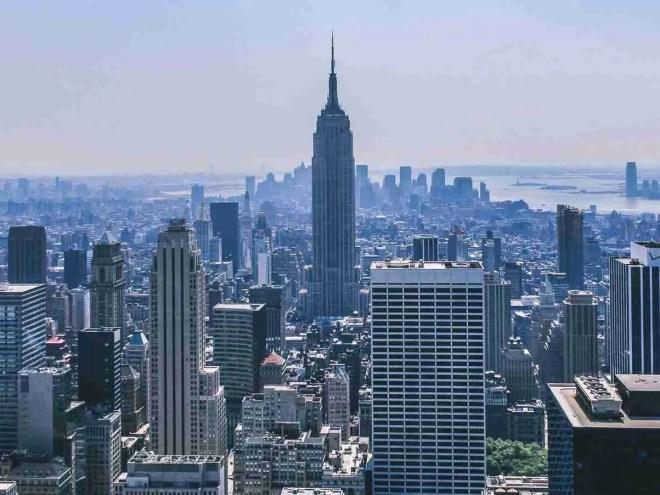 architecture, buildings, city, cityscape, colorful, downtown, landmark, new york, office, panorama, skyline, skyscraper, urban, usa