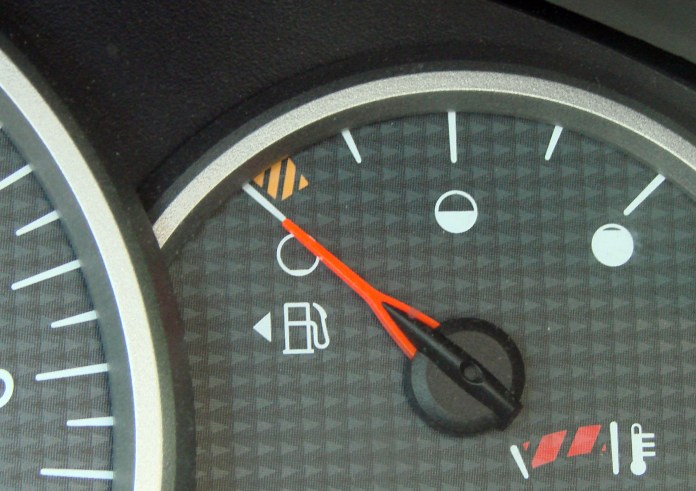 Image result for Arrow Beside The Gas Tank Signal