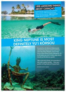 #975. King Neptune is Most Definitely Yu'i Kòrsou featured in Go Weekly magazine.