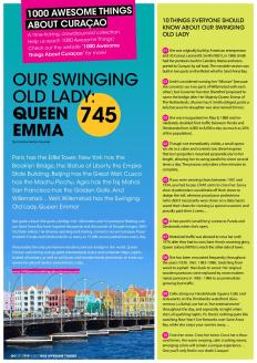 #745. Our Swinging Old Lady: Queen Emma in Go Weekly magazine.