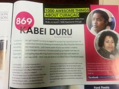#869 Kabei Duru featured in GO Weekly's 46th Edition.