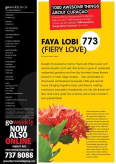 #773. Faya Lobi (Fiery Love) featured in Go Weekly.