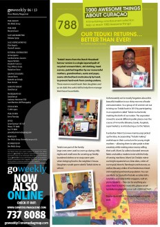 ATAC #788. 'Teduki Returns' featured in GO Weekly's 5th edition of 2013.