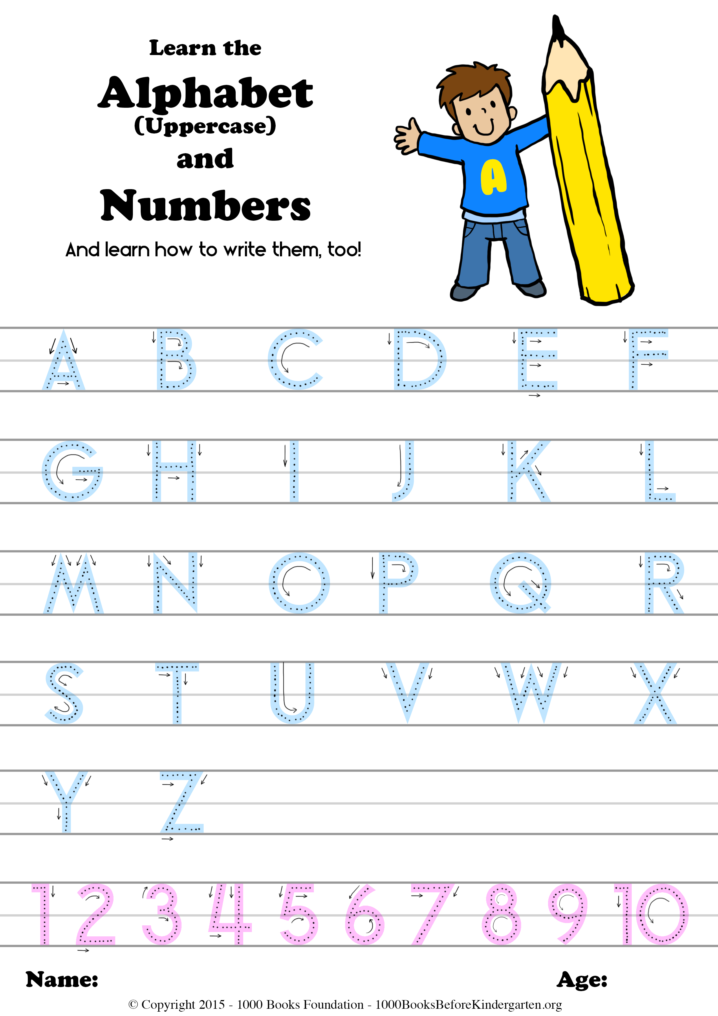Learn The Alphabet Amp Numbers And How To Write Them Too Books Before Kindergarten