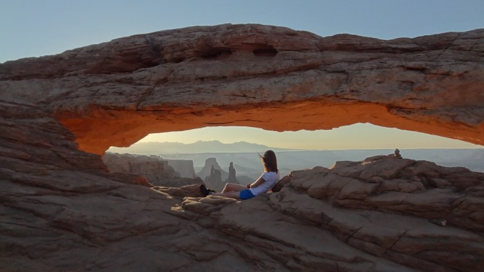 Ouest américain Canyonlands National Park Mesa Arch Sunrise