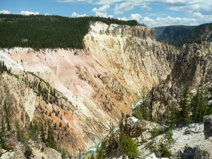 Ouest américain Yellowstone National Park Canyon