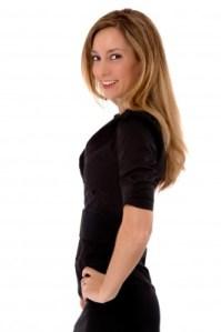 Beautiful woman black dress