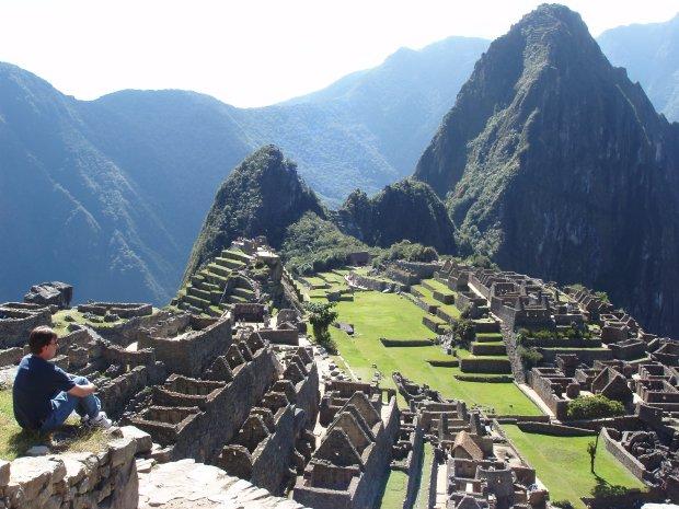 Overlooking ancient ruins