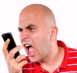 cell phone yelling