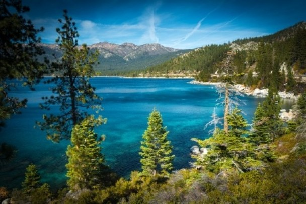 Pure blue water of Tahoe