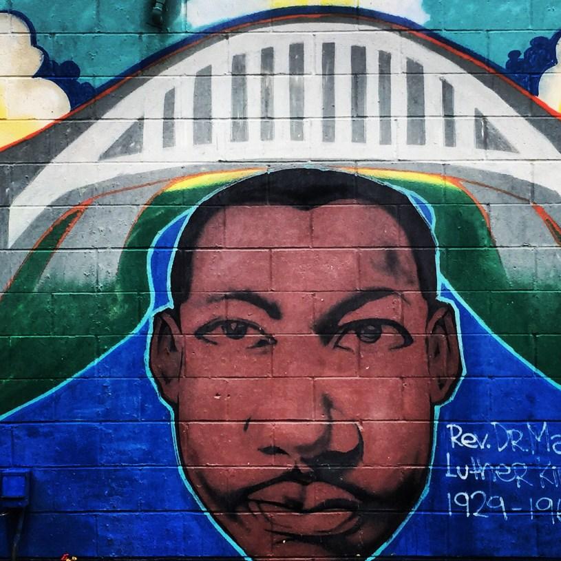 Martin Luther King Jr. mural.  Selma, Alabama.