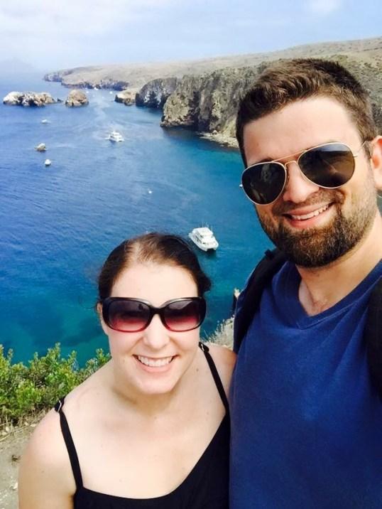 Charlotte and Cameron at Santa Cruz Island, Channel Islands National Park