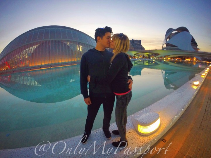 The couple behind @onlymypassport in Valencia, Spain.