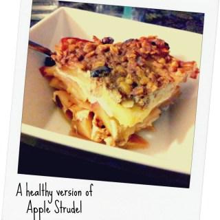 Healthy low calorie Apple Strudel