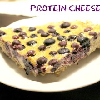 Protein Blueberry Cheesecake
