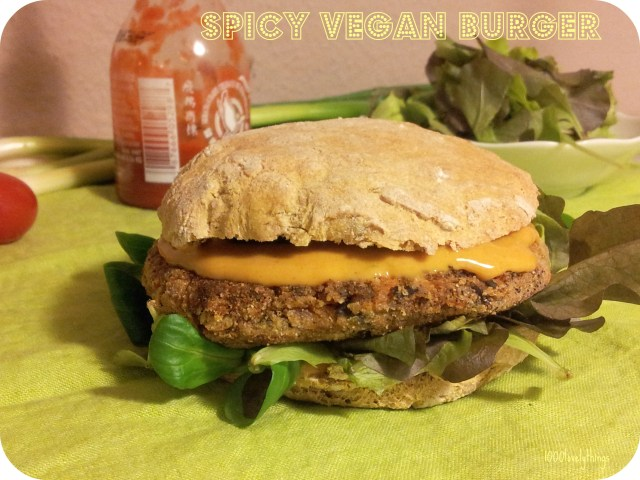 spicy vegan burger
