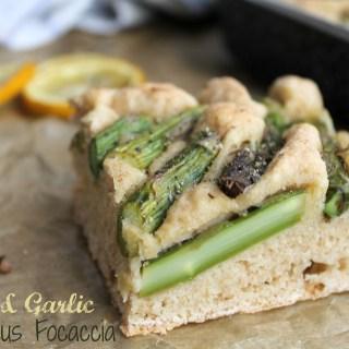 Lemon & Garlic Asparagus Focaccia
