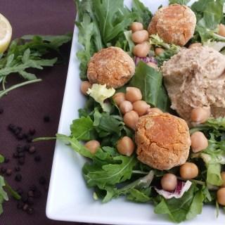 Crunchy & Creamy Triple Chickpea Salad