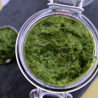Wild Garlic Parmesan Pesto