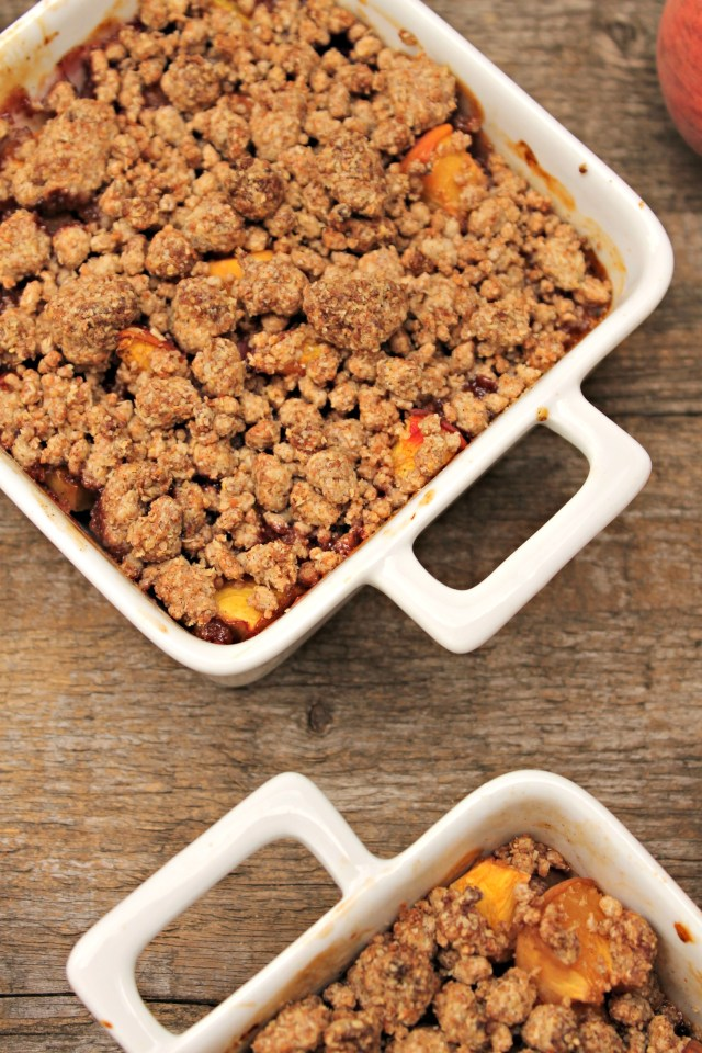 Vegan Peach Crumble 1