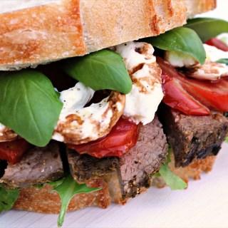 Italian Caprese Steak Sandwich