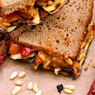 Grilled Veggie & Pesto Sandwich