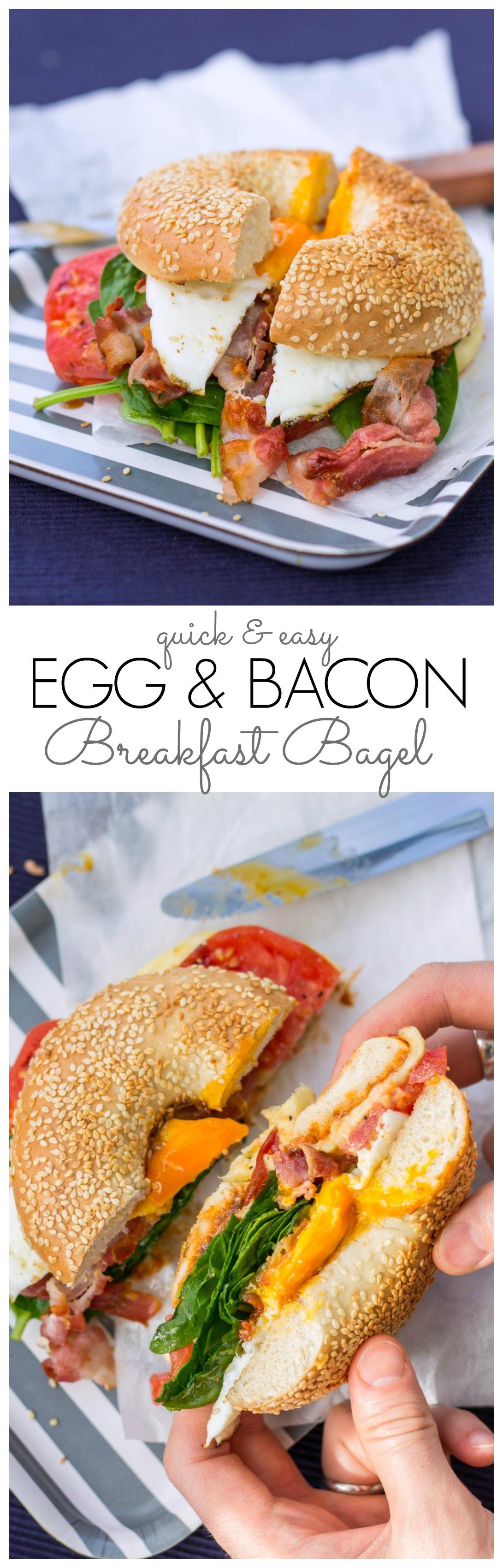 egg & bacon breakfast bagel