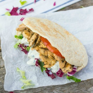 Greek Chicken Gyros Sandwich with Tzatziki Sauce