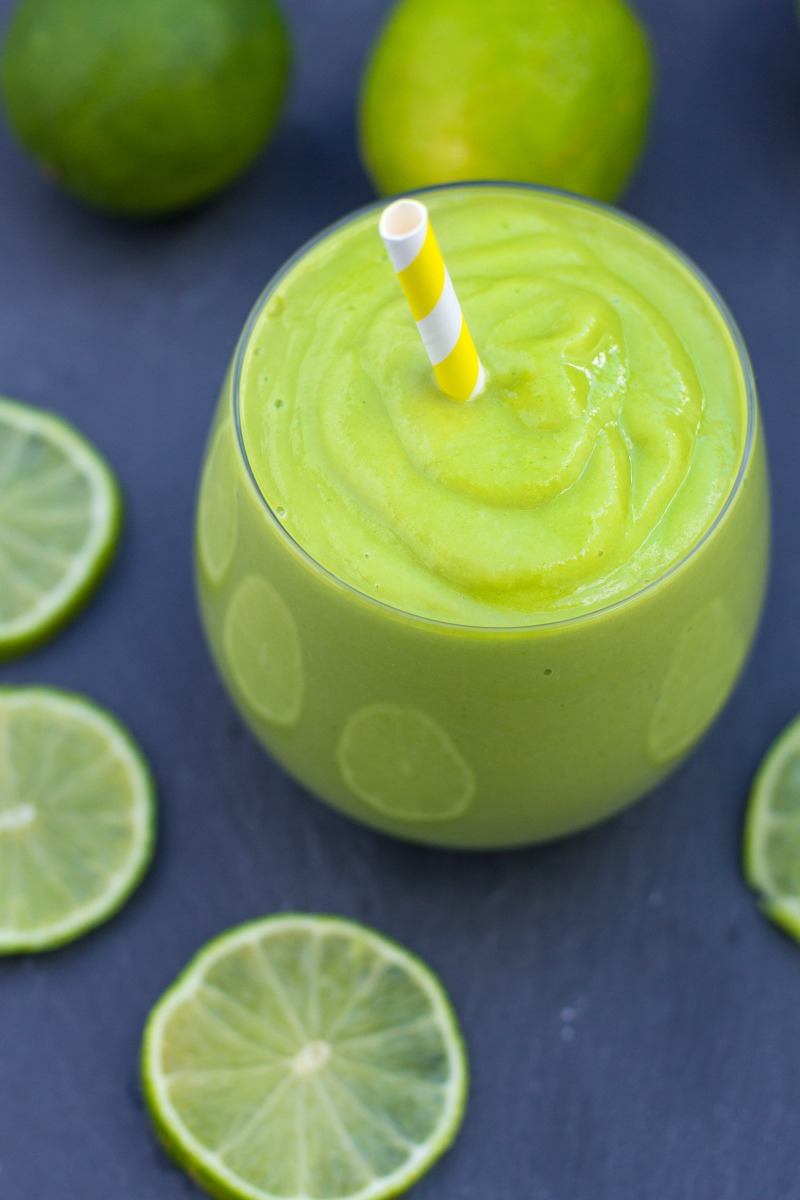 Healthy Key Lime Pie Smoothie-11