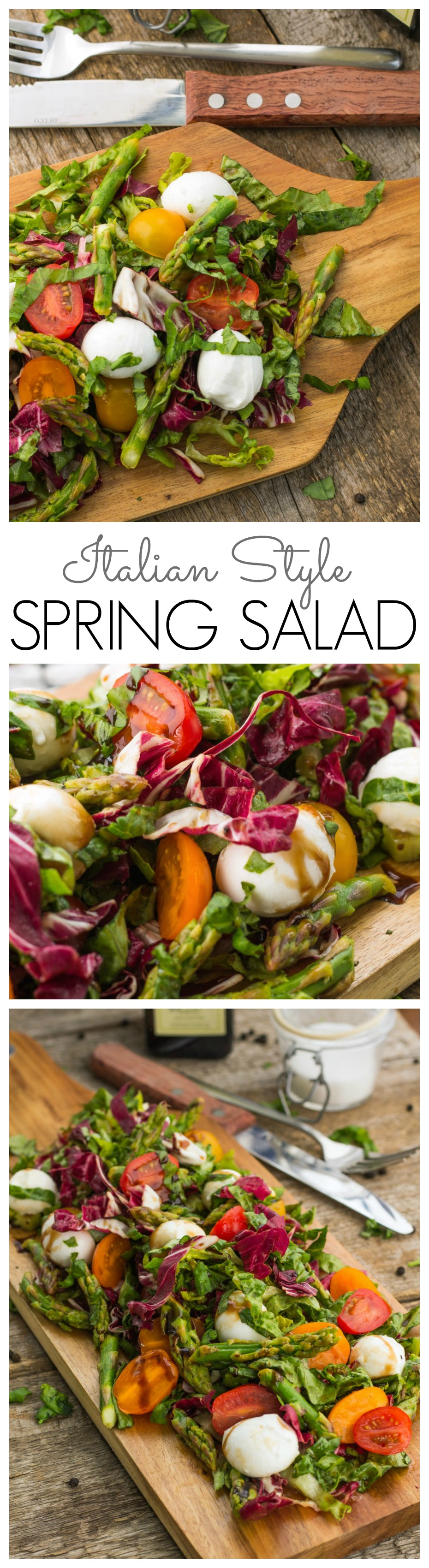 Italian style spring salad