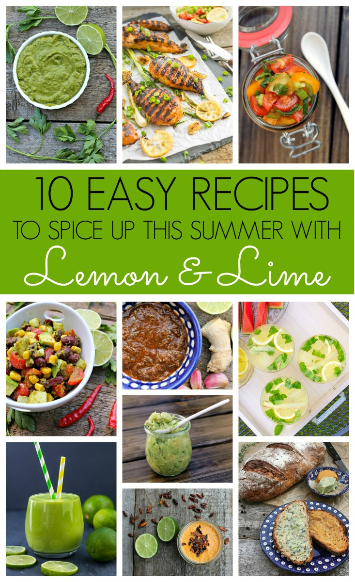 summer recipes round up with lemon and lime